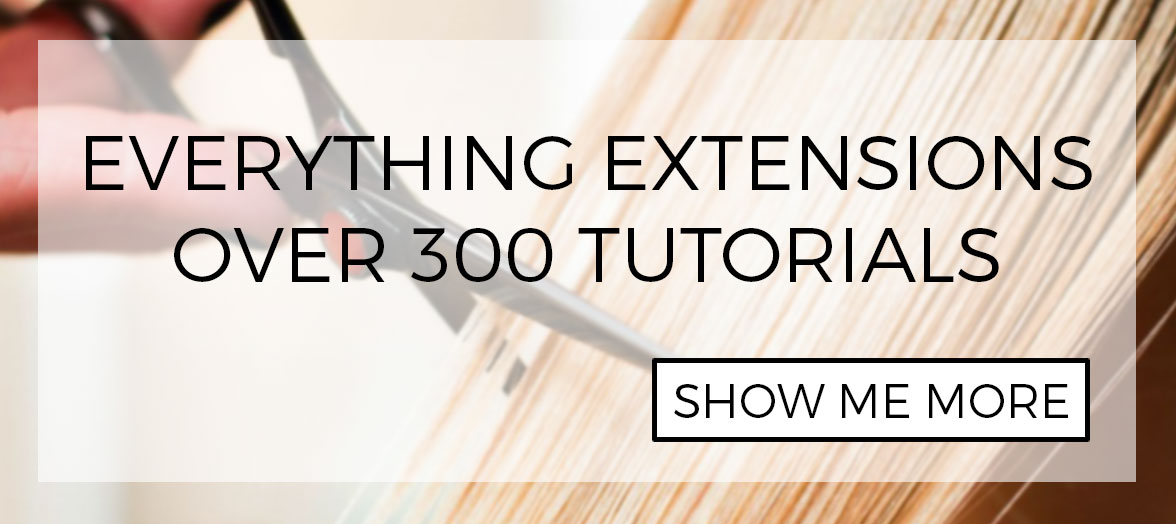 Over 300 free tutorials - learn everything you ever wanted to know about hair extensions... and then some!