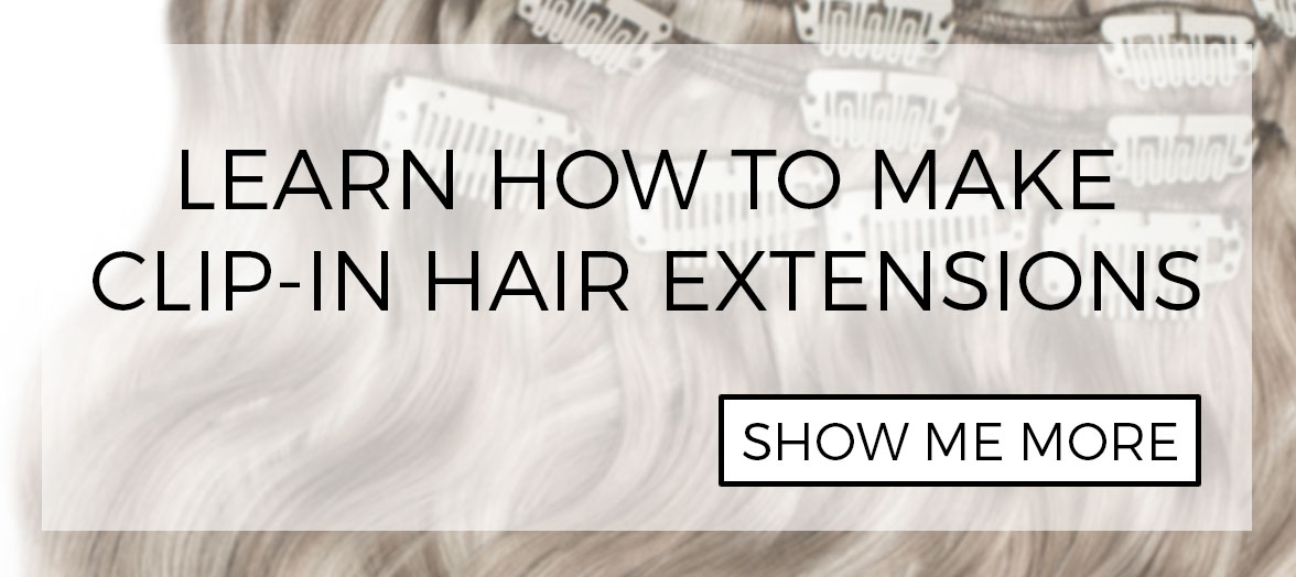 How to create DIY clip-in hair extensions