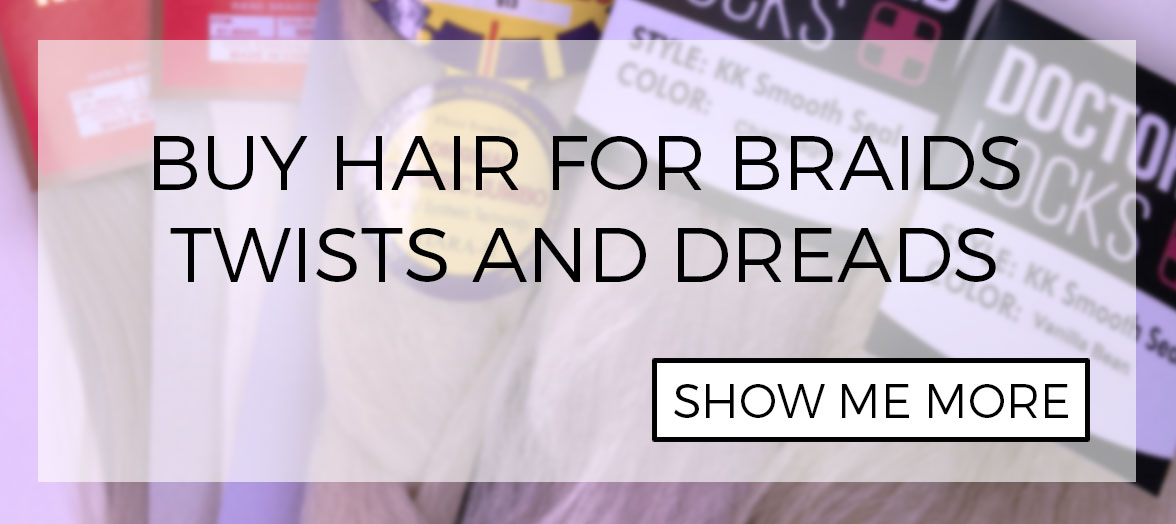 Hair for braided hair extension installation