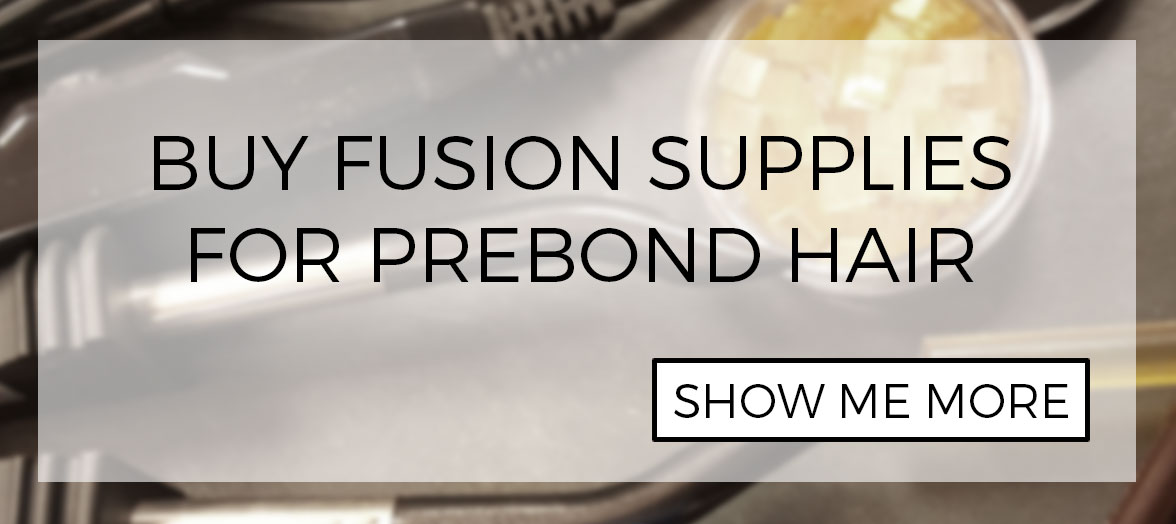 Fusion and supplies for installing prebond i-tip hair extensions