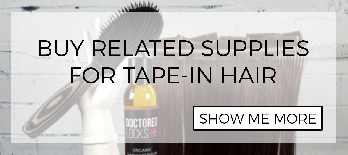 Tape hair installation removal and reuse tapes