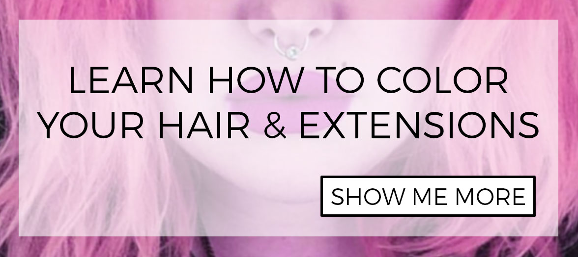 How to color human hair extensions in natural and wild patterns