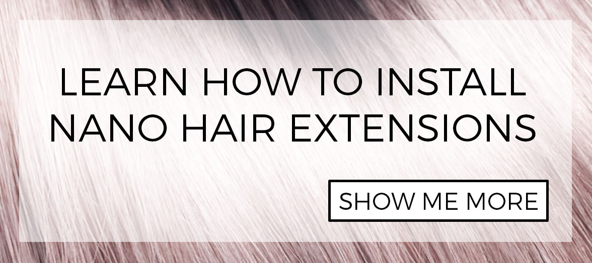 Nano tip hair extension installation methods