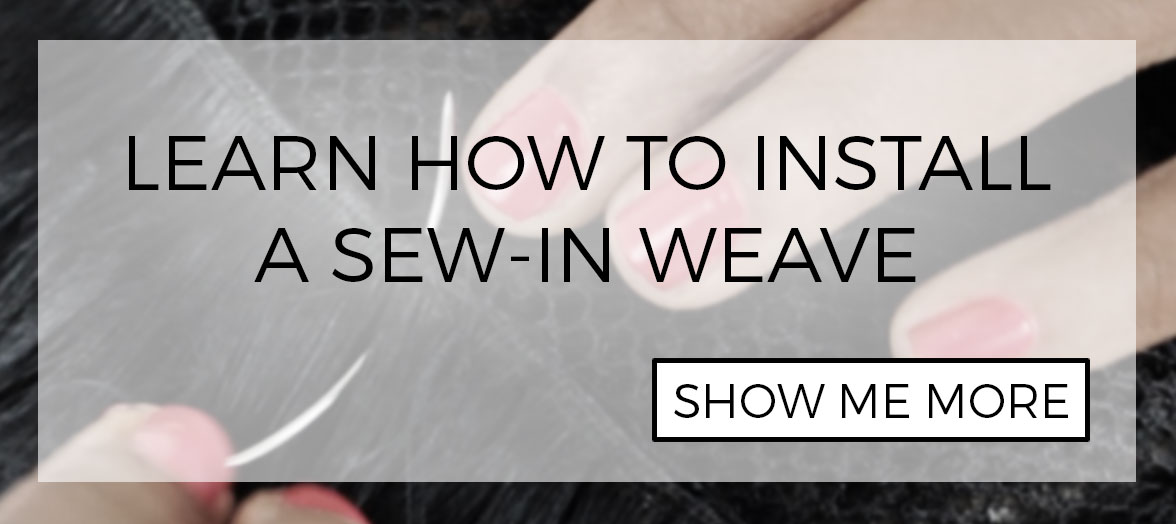 DIY: How to install wefted hair extensions with braids and sewing