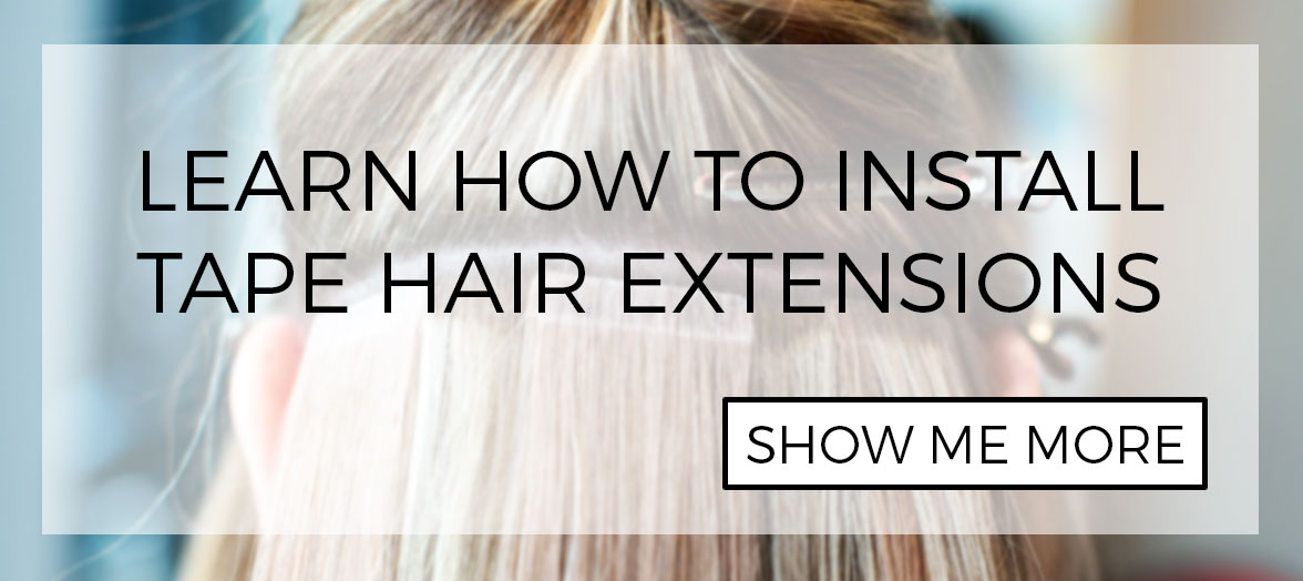 How to install tape in hair extensions