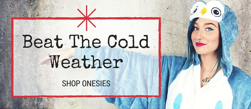 Beat the cold in the comfiest onesies available!