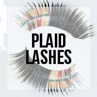 DIY: How to Make Plaid Print Lashes