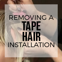 How to Remove Your Tape Hair Extensions (Live Model)