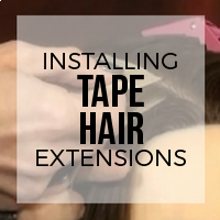 How to Install Tape Hair Extensions
