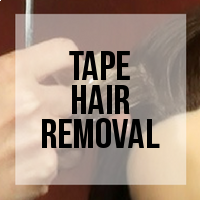 How to Remove Your Tape Hair Extensions (Mannequin)