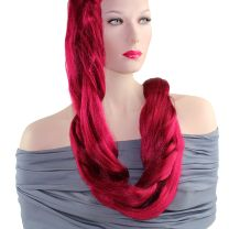 Rastafri 84 inch extra long kanekalon jumbo braid in bright red on model