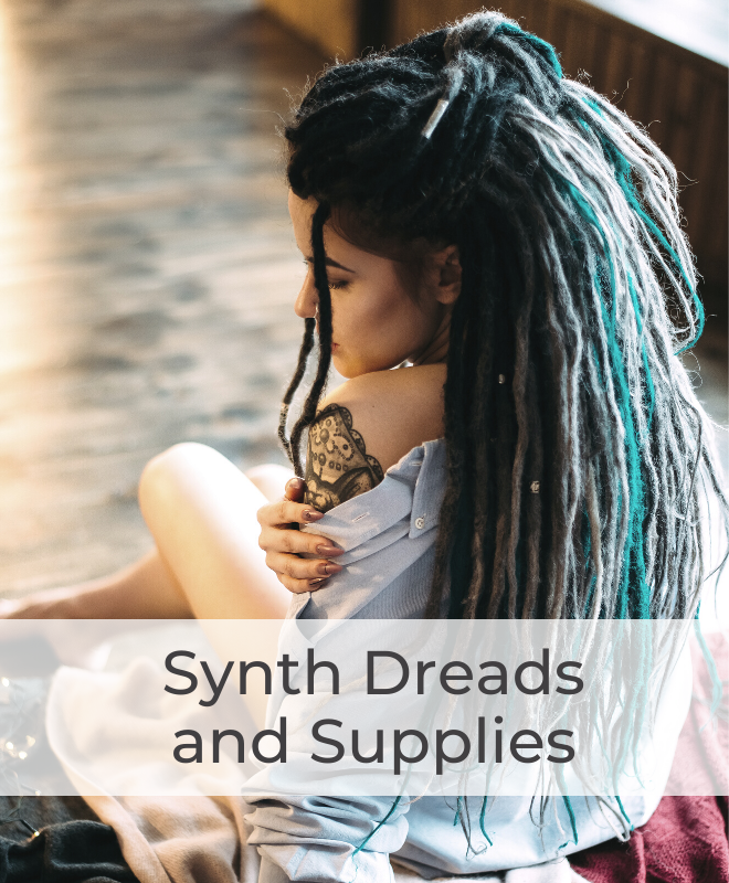 Synthetic Dreadlock Hair Extensions for Temporary Dreads