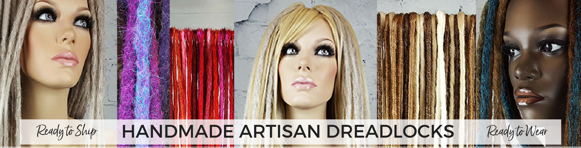 Handmade Artisan Dreadlock Hair Extensions - Ready to Ship
