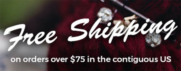 Free Shipping on orders over $75!
